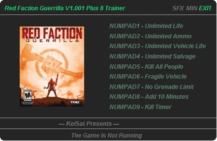 трейнер red faction guerrilla
